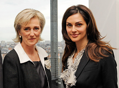 On mission with Princess Astrid of Belgium